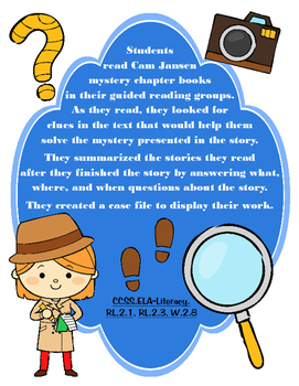 Mystery Genre Writing and Craft Activity