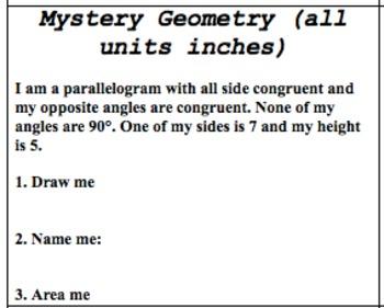 Mystery Geometry