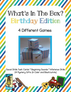 Mystery Gift Game 4 What's in the Box Games Pack Social Skills Beginning Sounds