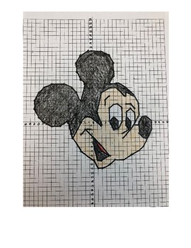 Mystery Graph Mickey Mouse Coordinate Plane Graphing