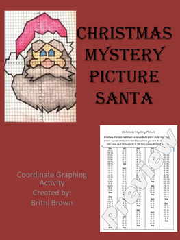 Christmas Holiday Coordinate Graphing / Ordered Pairs Practice