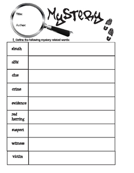 Mystery Graphic Organizer for Reading