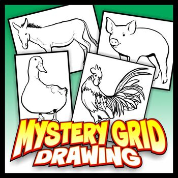 Mystery Grid Four-Pack - Farm Animals