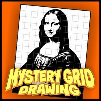 Mystery Grid Drawing - Mona Lisa
