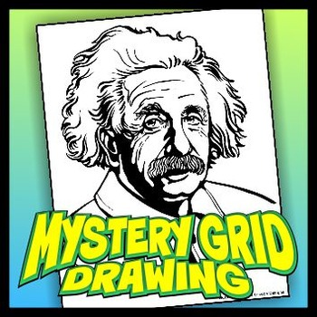 science albert einstein drawings mystery grid drawing albert einstein by outside the lines lesson