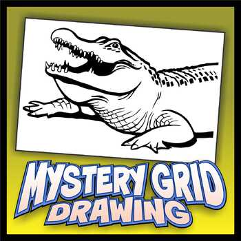 Mystery Grid Drawing - Alligator