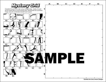 Mystery Grid Drawing - Alpacas