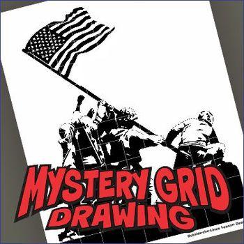 Mystery Grid Drawing Art Project - Iwo Jima