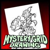 Mystery Grid Drawing Art Project - Roses