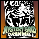 Mystery Grid Drawing - Tiger