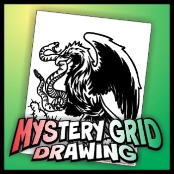 Mystery Grid Drawing - Bandera de Mexico