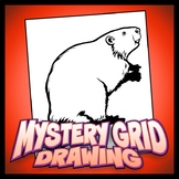 Mystery Grid Drawing - Beaver