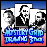 Mystery Grid Drawing Bundle - Martin Luther King Jr.