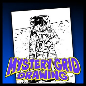 Mystery Grid Drawing - Moonwalk
