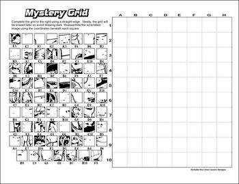 Mystery Grid Drawing - Moonwalk