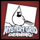 Mystery Grid Drawing - Cardinal