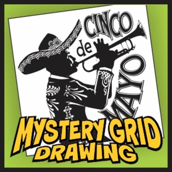 Mystery Grid Drawing - Cinco de Mayo
