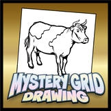 Mystery Grid Drawing - Cow