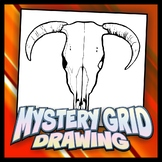 Mystery Grid Drawing - Cowskull