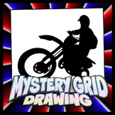 Mystery Grid Drawing - Dirtbike Silhouette