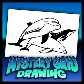 Mystery Grid Drawing - Dolphins