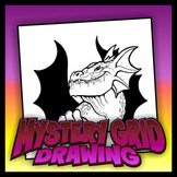Mystery Grid Drawing - Dragon