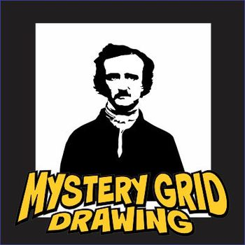 Mystery Grid Drawing - Edgar Allan Poe Portrait
