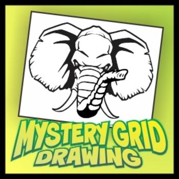 Mystery Grid Drawing - Elephant
