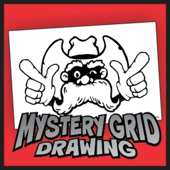 Mystery Grid Drawing - Finger Guns