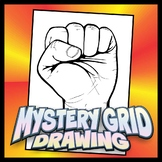 Mystery Grid Drawing - Fist