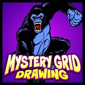 Mystery Grid Drawing - Gorilla Attack