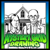 Mystery Grid Drawing - Grant Wood's American Gothic