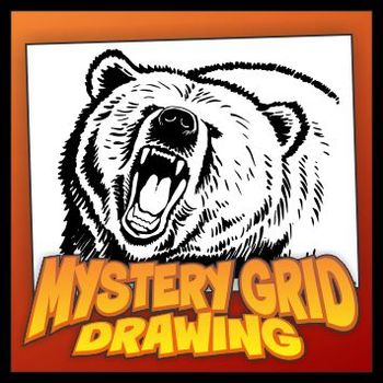 Mystery Grid Drawing - Grizzly