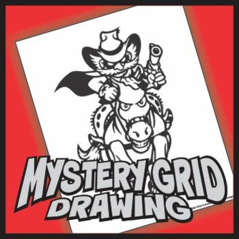 Mystery Grid Drawing - Bandit