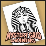 Mystery Grid Drawing - King Tut Art Project