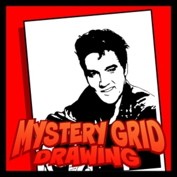 Mystery Grid Drawing - King of Rock and Roll