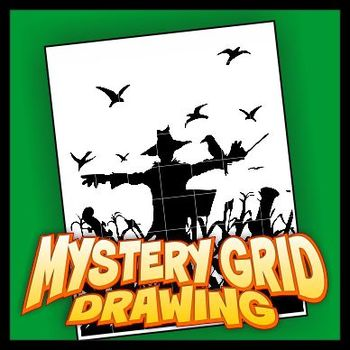 Mystery Grid Drawing - Scarecrow Maestro