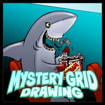 Mystery Grid Drawing - Movie Shark