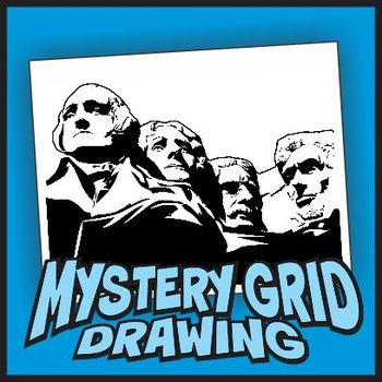 Mystery Grid Drawing - Mt. Rushmore