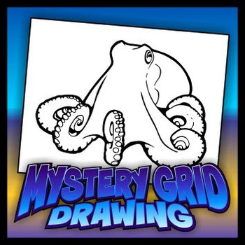 Mystery Grid Drawing - Octopus