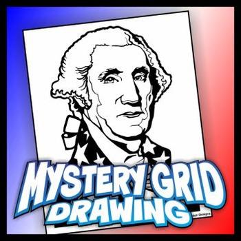 Mystery Grid Drawing President 01 George Washington