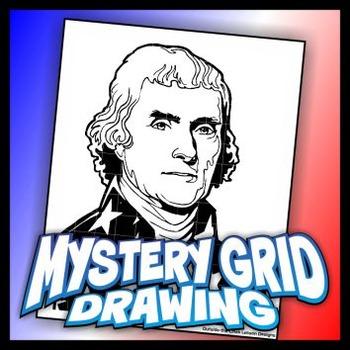 Mystery Grid Drawing President 03 Thomas Jefferson
