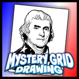 Mystery Grid Drawing President 03 Thomas Jefferson