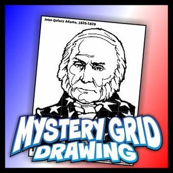 Mystery Grid Drawing President 06 John Quincy Adams