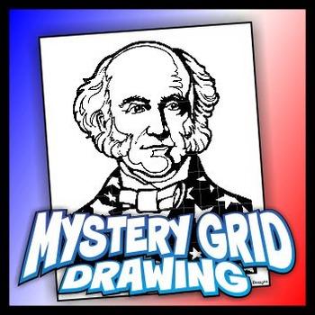Mystery Grid Drawing President 08 Martin Van Buren