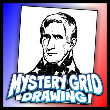 Mystery Grid Drawing President 09 William H Harrison