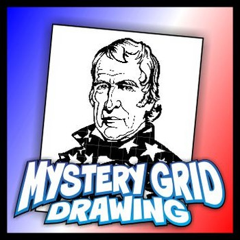 Mystery Grid Drawing President 12 Zachary Taylor