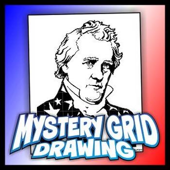 Mystery Grid Drawing President 15 James Buchanan