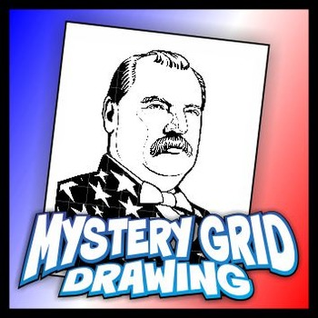 Mystery Grid Drawing President 22-24 Grover Cleveland