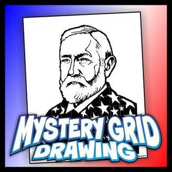 Mystery Grid Drawing President 23 Benjamin Harrison